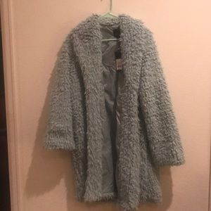 Mint fux fur wild fable coat with tags
